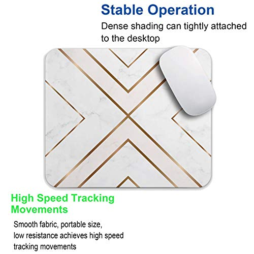 Mouse Pad White Chic Pattern Cute Desk Mousepad Non-Slip Rubber Custom Computer Accessories Gaming Mouse Pad Rectangle Mouse Pads for Home and Office Work Photo #7
