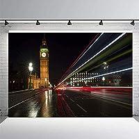 ZPC 7x5ftビッグベン背景ロンドンランドマーク背景英国有名な休暇シーンスポット写真背景ビニール写真ブーススタジオ小道具435
