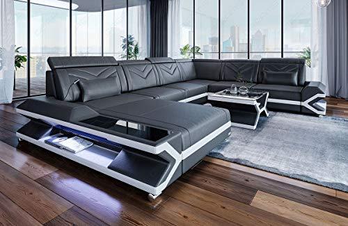 Sofa Dreams Leder Wohnlandschaft Napoli XXL