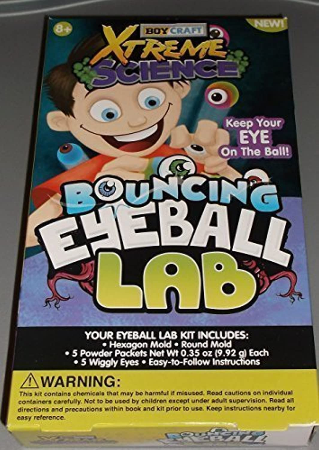 Boy Craft XTreme Science Bouncing Eyeball Lab Kit Makes 5 Bouncing Balls with Wiggly Eyes by XTreme Science