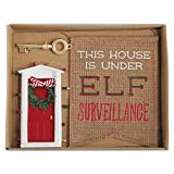 Mud Pie Merry and Bright Collection Mini ELF Door Key and Flag Sign Gift Set