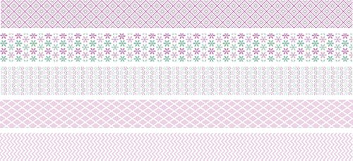 "Heyda 203584570 Deko Tapes ""Pastell Mini"" jede Rolle 12 mm x 3 m rosa"