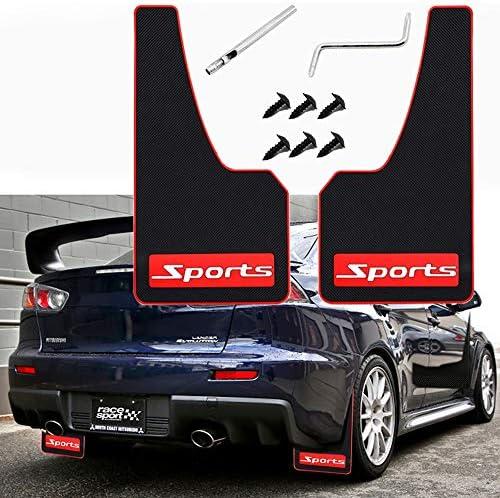 YA 2 Pcs Car Mud Flaps Fender Splash Guards Flexible Mud Guard No Collision for Sports Universal product image