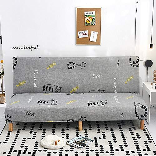 Cubre Sofas Chaise Longue,Funda elástica de sofá Cama con apoyabrazos de Spandex, Todo Incluido Plegable-R_Longitud 180-210cm,Tejido elástico Antideslizante, Funda Antideslizante