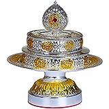 XDYFF Mandala Tibetano Decoracion de Aleación, Budismo Zen Figuras Religiosos para Hogar, Oficina, Altar Adornos,Plata