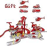 YWAWJ Coches for niños Simular Coches Helicóptero Vehículo de construcción Playset Ambulancia de Bomberos de la Policía de Regalos de cumpleaños a Juego for niños Parking Lot Set 3 años al Alza