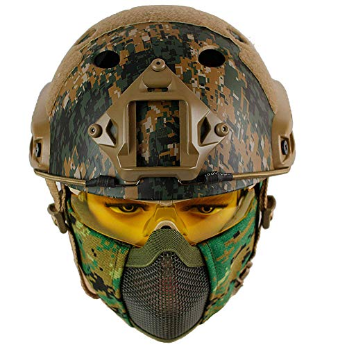 WLXW Airsoft Tactical Metal Mesh Mask Y PJ Type Fast