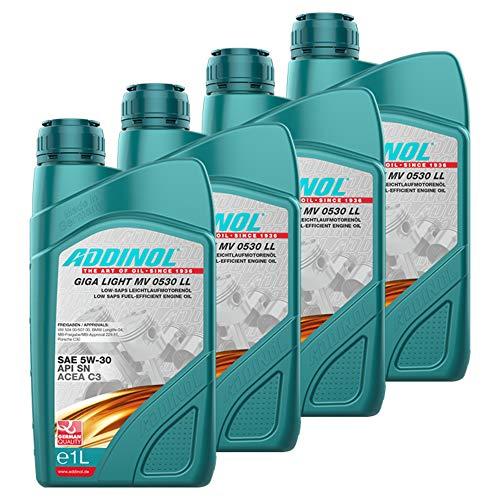 Addinol 4X Motoröl Motorenöl Motor Motoren Motor Oil Engine Oil Benzin Diesel 5W-30 Giga Light Mv 0530 Ll Longlife 1L