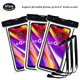 Pinlu® 3 Pack [IPX8 Certified] [6 Inch] Waterproof