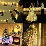 LED Lichterkette Batterie 8er 2M 20 LED Innen Micro Silber Batteriebetriebene Lichterkette für Weihnachten, Hochzeit, Party, Schlafzimmer, Tisch Dekoration(Kommen mit 8 Stück Batterien) - 4