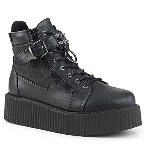 Demonia V-CREEPER-566 Blk Vegan Leather UK 8 (EU 41)