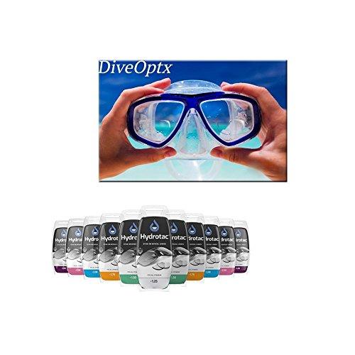 Leselinsen Hydrotac/Geeigneit für Sonnenbrillen und Spobrillen LH, Gläserstärke:+ 2.5