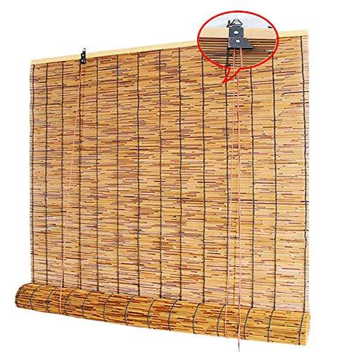 XYL Stores de fenêtre en Bambou Naturel, Rideaux en Roseau - Store venitien pour Porche/Patio/Pergola/Gazebo, 80x150cm, 110x160cm, 120x250cm, 130x220cm, 150x250cm