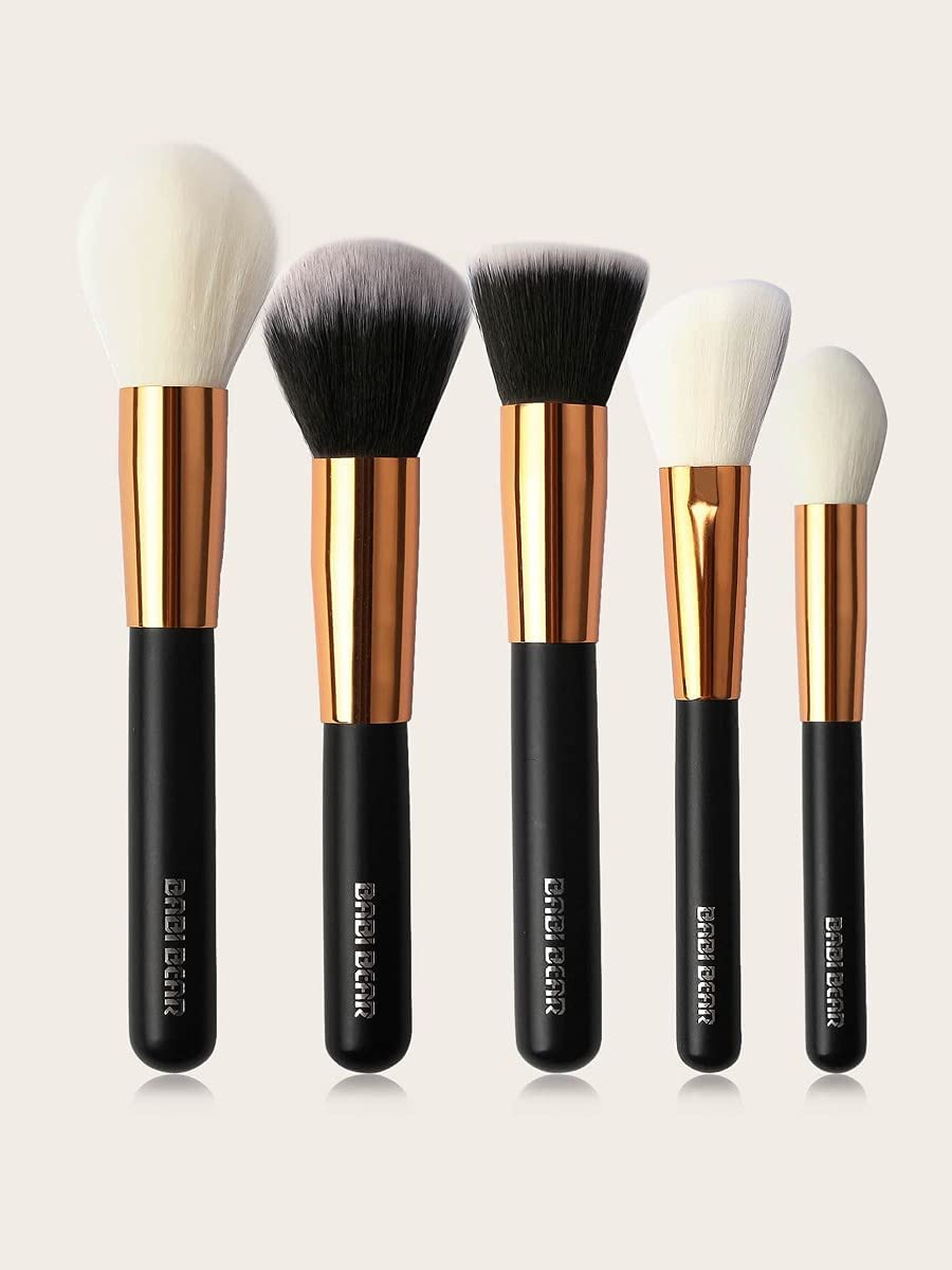 HOBBYN Makeup discount Brush 40% OFF Cheap Sale 5pcs Soft Black Color : Set