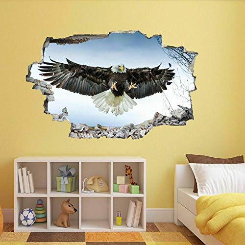 Pegatinas de pared Bald Eagle Landing Wall Sticker Mural Decal Kids Bedroom Home Office Decor BS23