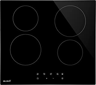 Table de cuisson Vitrocéramique 4 foyers - BELDEKO - 6000W- Sensitive