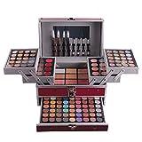 FantasyDay® 132 Colori Makeup Contouring Kit combinazione con Palette Ombretti, Correttore, Polvere del Sopracciglio, Polvere Ombreggiante, Fard, Lucidalabbra e Polvere Pressata #3