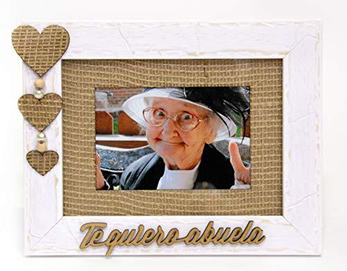TE QUIERO ABUELA, marco portafotos fotografia 10x15 o 13x18 horizontal, madera en...