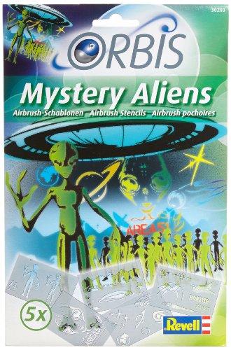 """Orbis 30203 - Airbrush für Kinder Schablonen-Set """"Mystery Aliens"""