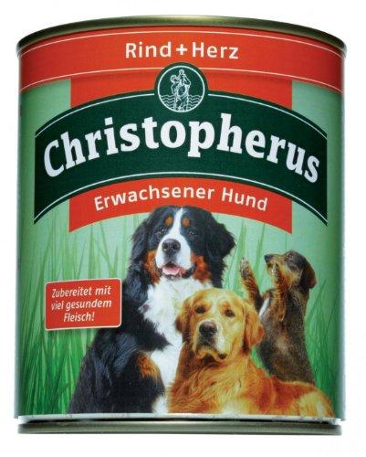 Allco   Christopherus Erwachsener Hund Rind + Herz   6 x 800 g