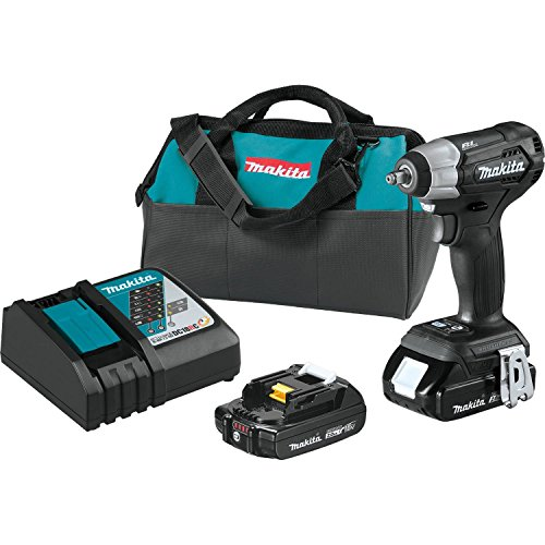 "Makita XWT12RB 18V LXT Lithium-Ion Sub-Compact Brushless Cordless 3/8"" Sq. Drive Impact Wrench Kit (2.0Ah)"