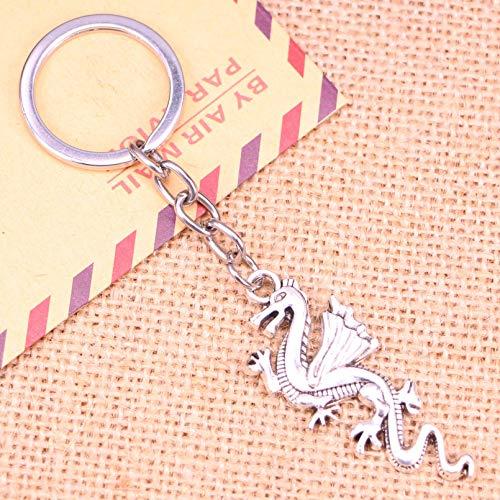 SUNSK Llavero de Moda 49 * 20 Mm China Loong Dragon Colgantes DIY Hombres joyería Coche Llavero Anillo Titular Recuerdo para Regalo
