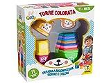Teorema 64171 - Torre Colorata con Lettere e Numeri da Impilare, Multicolore...