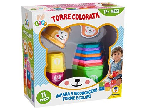 Teorema 64171 - Torre Colorata con Lettere e Numeri da Impilare, Multicolore