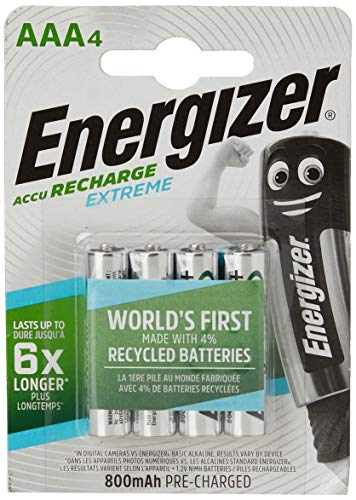 Oferta de Energizer Rec HR03 AAA - Pilas Recargables (NiMh, 1.25 V, 800 mAh, 4 Unidades)