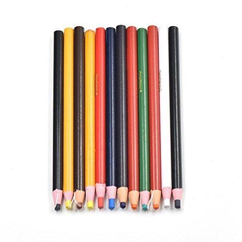 12 lápices de grasa para madera y metal, color negro