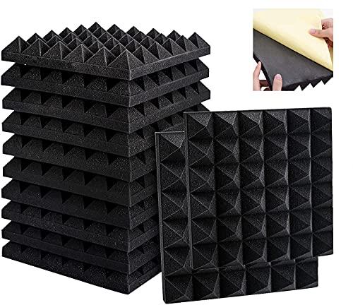 12 Akkustik Platten Akustikschaumstoff Platten Schall Dämmung Stück für Tonstudio, Büro, Arbeitszimmer, Heimstudio (30x30x5cm)