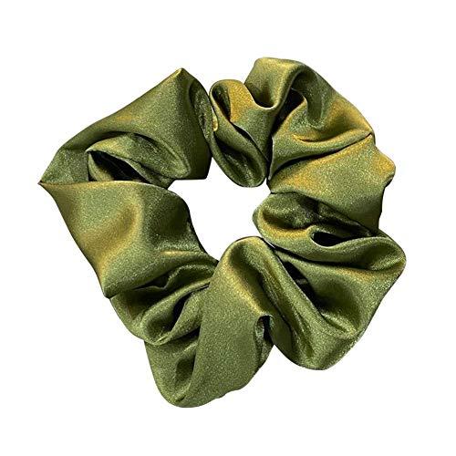 Lfhing - Cinta para el pelo para mujer, diseño de cola de caballo, verde oliva, 1