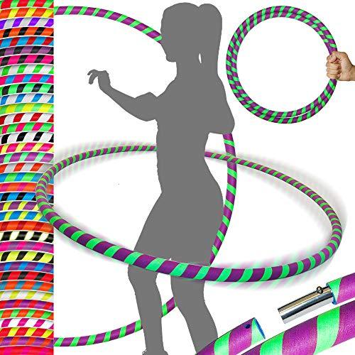 Stollen Ultra-Grip Pro Hula Hoop (100cm/39') UV-Gewichteter Travel Hula Hoop/Hula Hoop-Reifen für Bewegung, Tanz und Fitness. Keine Anleitung benötigt (680g)–gleiche Tag Versand. UV Green/Purple Aprox: 100cm / 39'