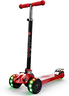 Scooters YXX Adjustable Kick with 3 Wheels for Kids, Foldable Design, Best Gifts for Girls Boys Age 2-16 Years Old