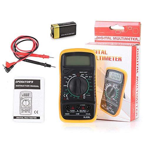 TB Digital Multimeter, XL830L Multi tester AC/DC Ohmmeter Voltage Tester Detector Voltmeter Portable Tester Meter with Backlight Over load protection