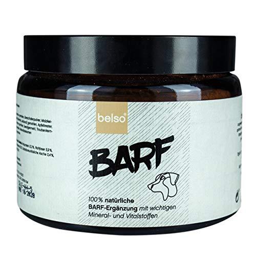 belso Barf 100% natürliche Futterergänzung für Hunde als Pulver 350 g für gesunde Nahrungsergänzung mit hochwertigen Mineralien Vitaminen als Mischung Zusatz Ergänzung Ergänzungsmittel für Hund
