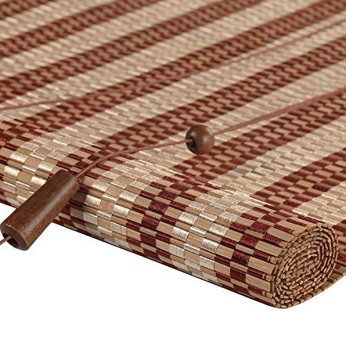 K&F-Bamboo blinds Persianas Horizontales, Cortinas De Bambú Natural Que Levantan La Persiana Romana Que Cuelga La Sombrilla (Ancho X Altura) (Color : D, Size : 90x120cm)