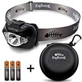 Explortek LED Headlamp Flashlight with Red and White Light Plus Travel...