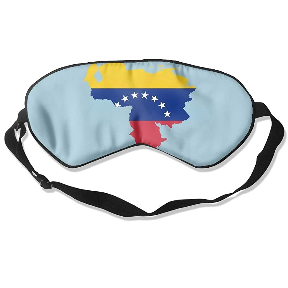 HANBINGPO Sleeping Mask Flag Map of Venezuela Adjustable Blackout Eyes Masks WhiteOne Size
