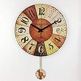 Eld Reloj de Pared de Madera Mudo, Estilo Vintage, Cuadrado, Romano, Relojes para Colgar en la Pared, Reloj, decoración del hogar