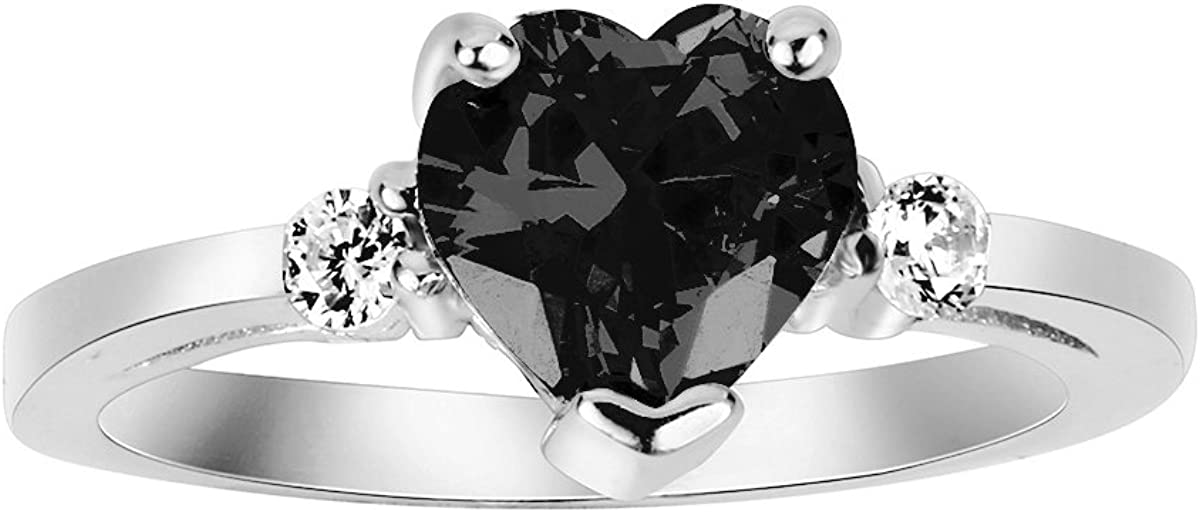 Max 66% OFF CloseoutWarehouse Cubic Zirconia Heart Sterling Recommended Ring Promise Sil
