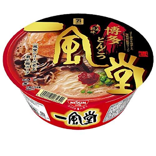 【リニューアル最新版】日清食品 一風堂 赤丸新味 博多とんこつ 127g×12個
