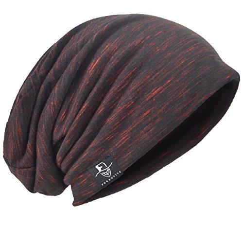 HISSHE Retro Slouchy Beanie Jersey Skull Cap Slouch Baggy Cappello Estivo B083 Multi-Claret M