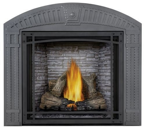 Best Price! Starfire NG Fireplace w/Log Set, Standard Barrier & Custom Blend Panel