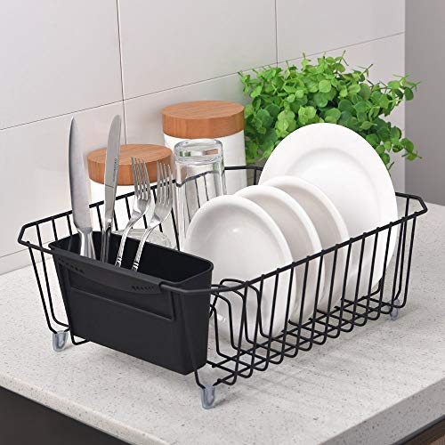 IKEBANA Black Commercial Small Wire Kitchen Dish...