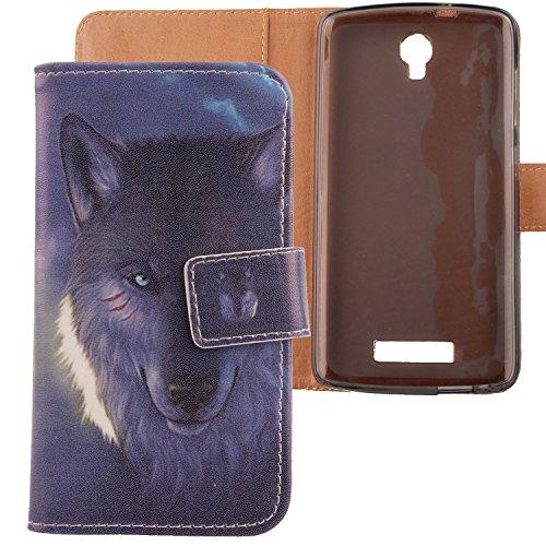 Lankashi PU Flip Leder Tasche Hülle Hülle Cover Schutz Handy Etui Skin Für ZTE Blade L5 / L5 Plus 5