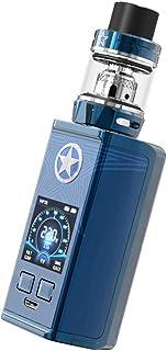 【最新ベイプ】電子タバコVape パワー調節機能付き スターターキット Vaptio CAPT'N Kit 爆煙 Vape 220W 禁煙サポート コンパクト LEDスクリーン 大容量売り別バッテリー 軽量 4.0ml 視覚化タンク付き ニコチンなし (青)