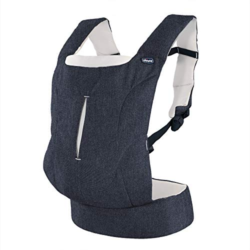 Chicco Easy Fit - Mochila ergonómica portabebé, hasta 9 kg, color azul vaquero (Denim Beige)