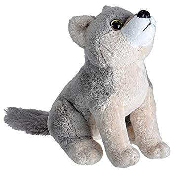Wild Republic Wild Calls Wolf Authentic Animal Sound Stuffed Animal Eight Inches Gift for Kids Plush Toy Fill is Spun Recycled Water Bottles
