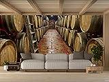 Oedim Vinilo para Pared Bodegas Madera | Fotomural para Paredes | Mural | Vinilo Decorativo | 100 x 70 cm | Decoración comedores, Salones, Habitaciones